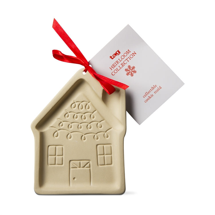 Stoneware Gingerbread House Cookie Mold