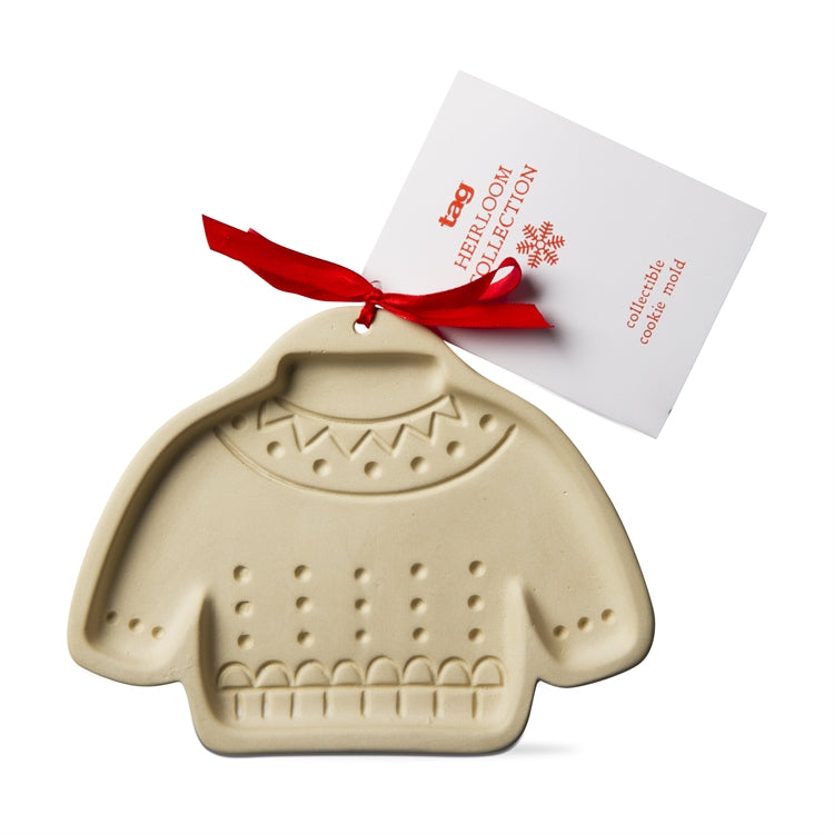 Stoneware Sweater Cookie Mold
