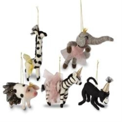 Felt Party Animals Ornaments
