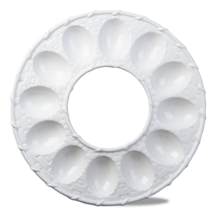 Tag Ltd White Lattice Egg Dish | Putti Fine Furnishings Canada