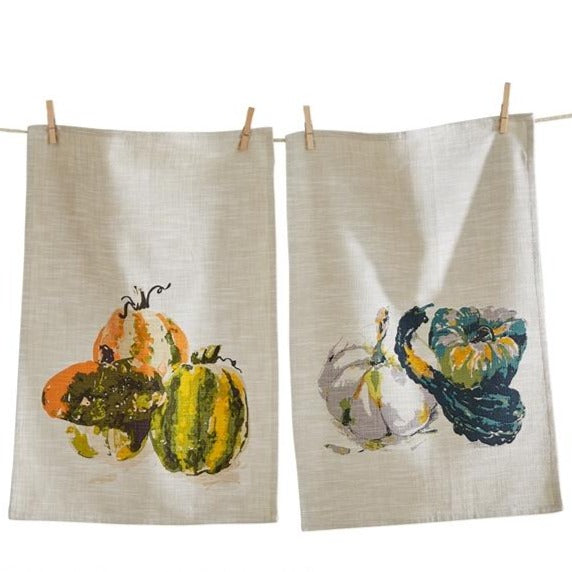 Autumn Dish Towel Set of 2 | Putti Thanksgiving Celebrations