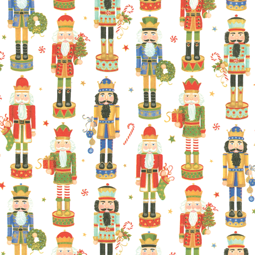 Caspari Nutcracker Parade Christmas Wrapping Paper Roll | Putti