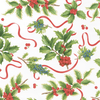 Caspari Christmas Trimmings Ivory Christmas Wrapping Paper Roll | Putti