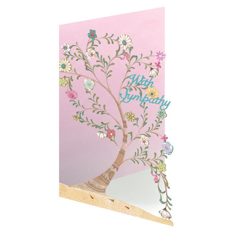 "Roger la Borde - ""With Sympathy"" Flower Tree -  Stationary - EG-Estelle Gifts - Putti Fine Furnishings Toronto Canada"