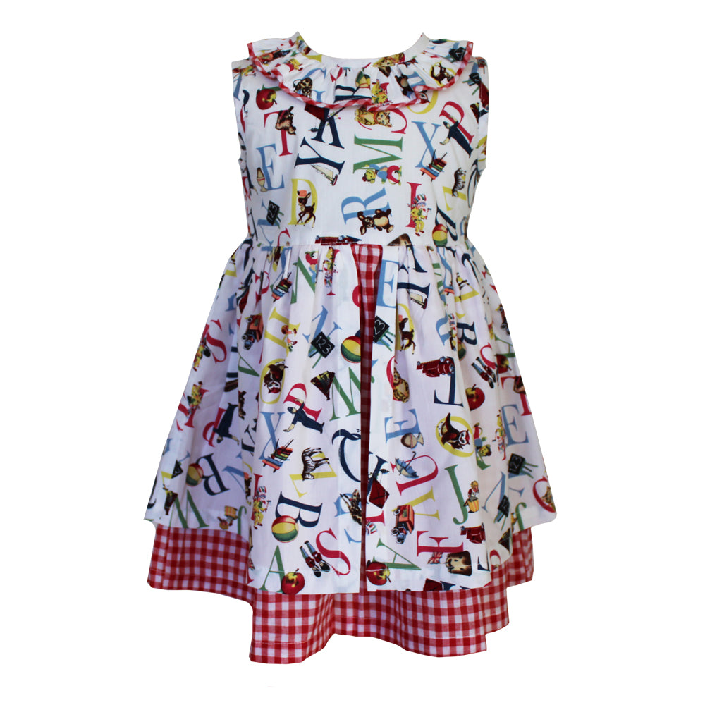 ABC Print Pinafore Dress