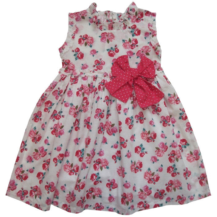 """Elsie"" Red Rose Dress - 1 to 2 years - (Sold Out) Dresses - Powell Craft Uk - Putti Fine Furnishings Toronto Canada"