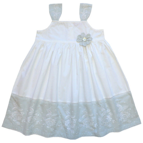 """Mary"" Embroidered Dress - 1 to 2 years (Special Order 2 weeks) Dresses - Powell Craft Uk - Putti Fine Furnishings Toronto Canada"