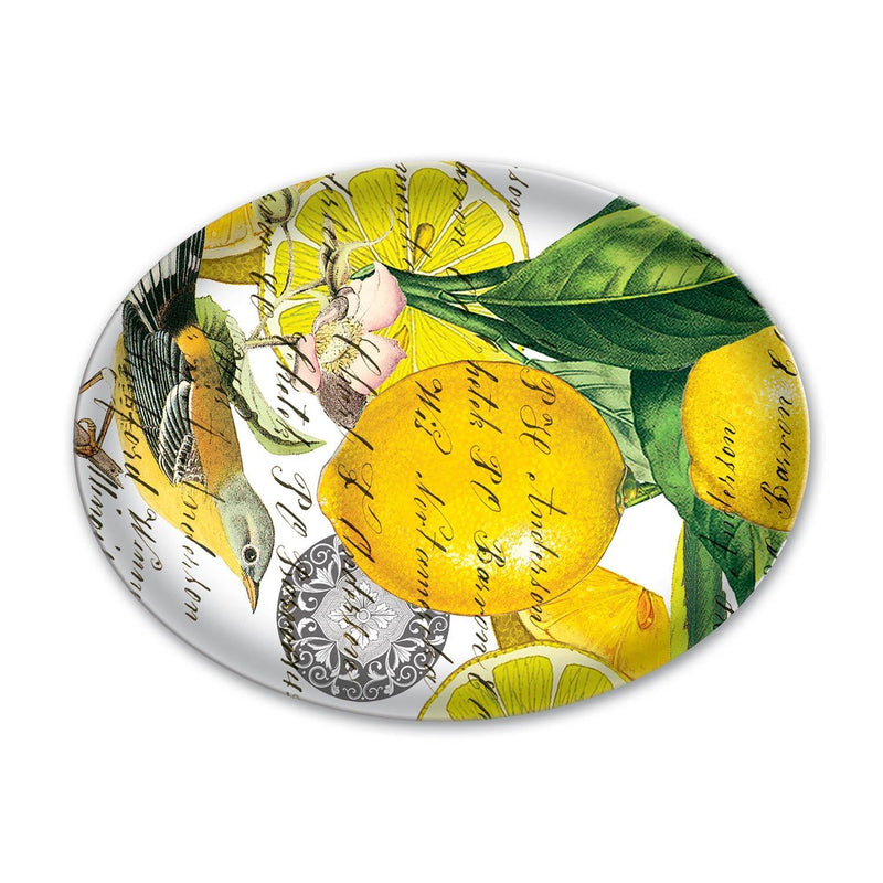 Michel Design Works Lemon Basil Oval Glass Soap Dish