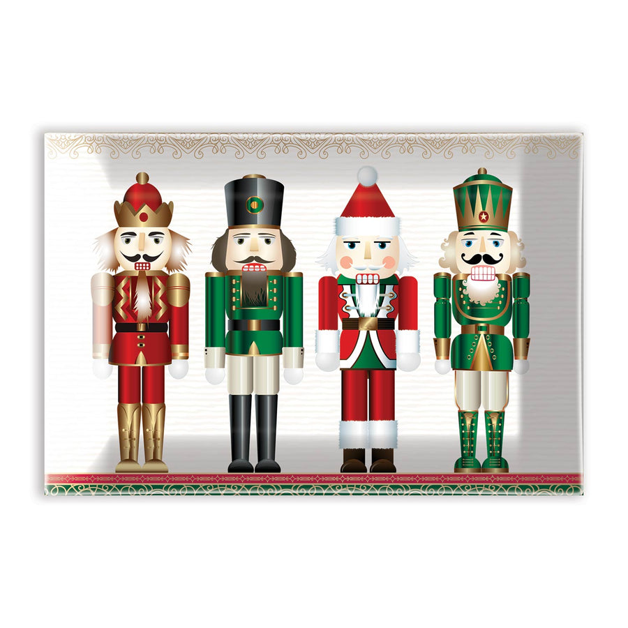 Nutcracker Rectangular Glass Soap Dish