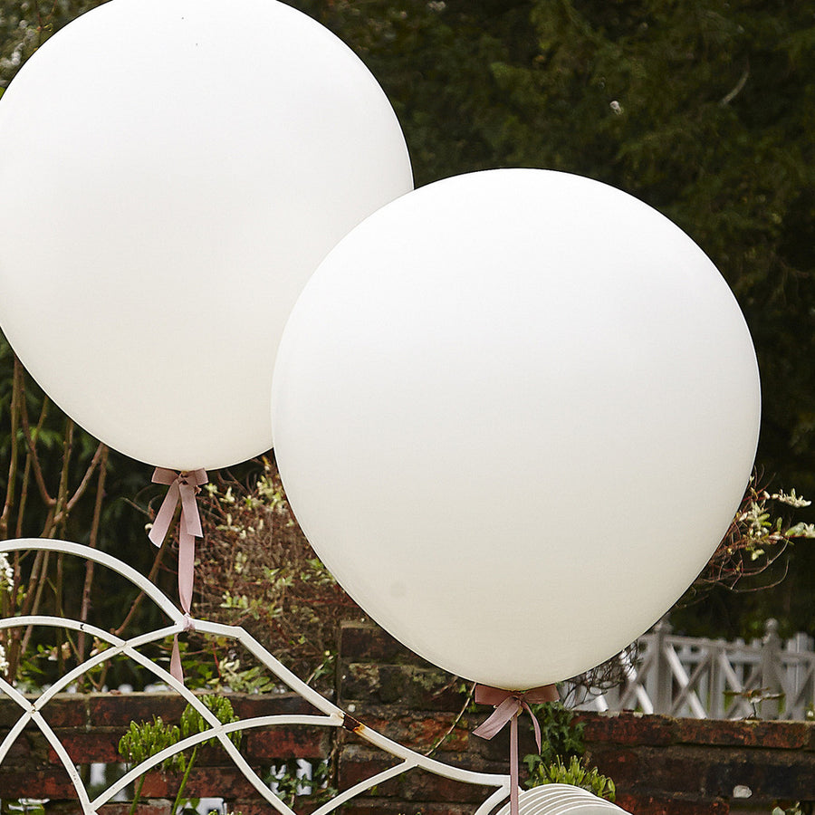 "Giant Round Balloon 30""- Pearlized White"