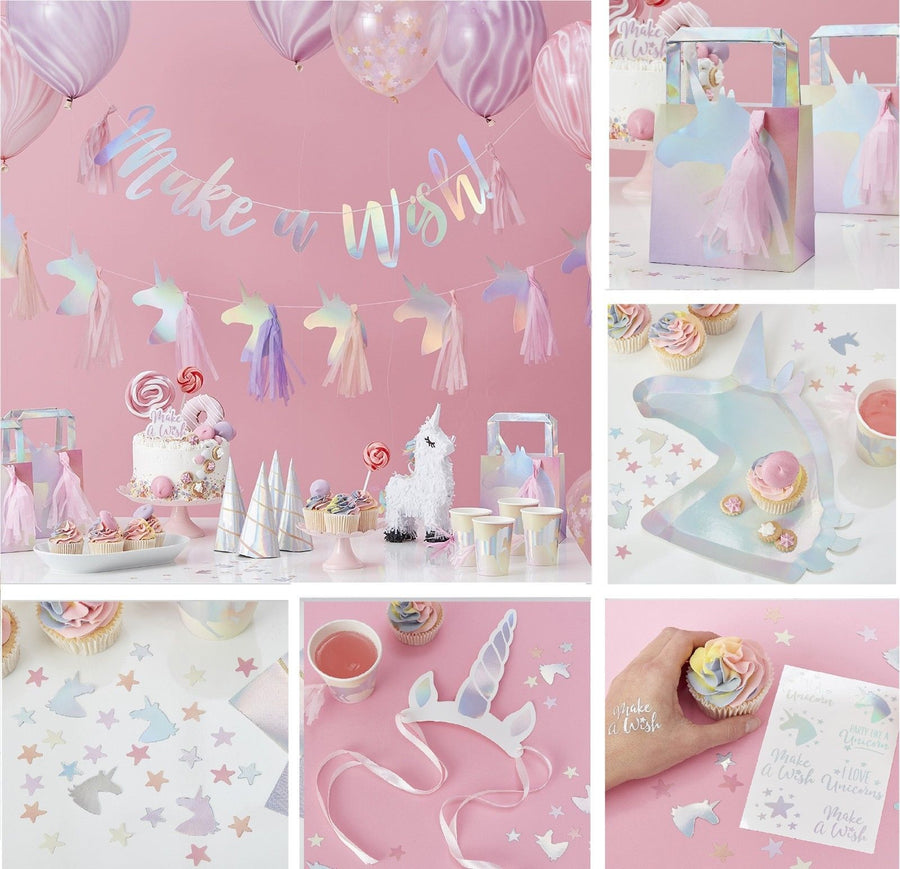 """Make a Wish"" Party Like a Unicorn Bunting"