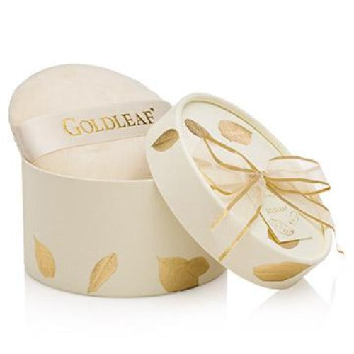 Thymes Goldleaf Dusting Powder with Puff, TC-Thymes Collection, Putti Fine Furnishings