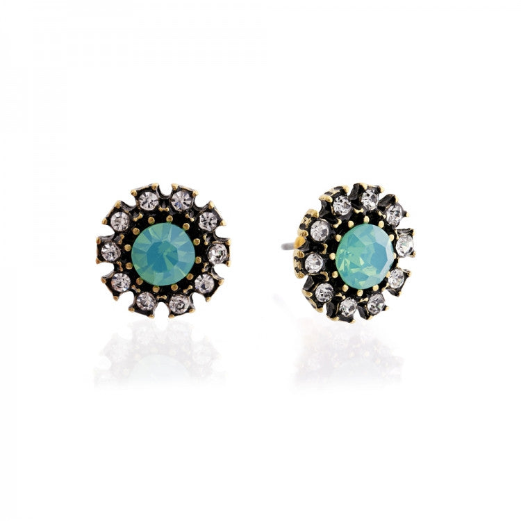 Lovett & Co. Diamante Grace Earrings Pacific Opal