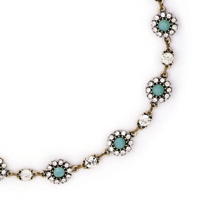 Lovett & Co. Diamante Grace Necklace Pacific Opal