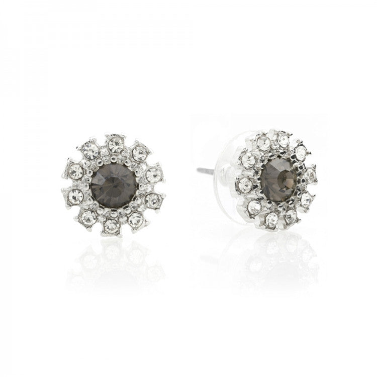 Lovett & Co Grace Crystal Earrings - Black Diamond