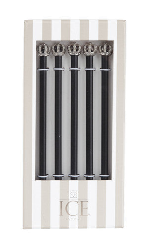 Silver King Crown Pencil Set, ICE- ICE London, Putti Fine Furnishings