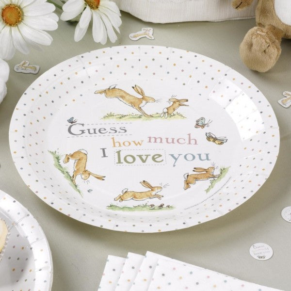 """Guess How Much I Love You"" Paper Plates -  Party Supplies - TF-Tiger Feet - Putti Fine Furnishings Toronto Canada - 1"