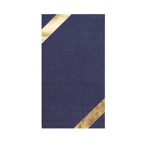 Posh Navy & Gold Paper Guest Napkins
