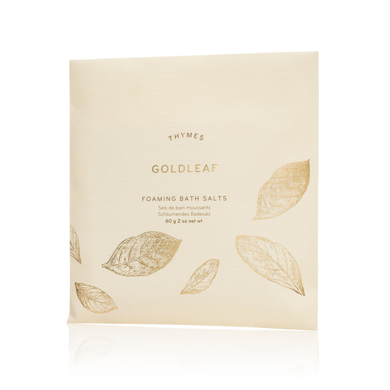 Thymes Goldleaf Foaming Bath Envelope, TC-Thymes Collection, Putti Fine Furnishings Toronto Canada