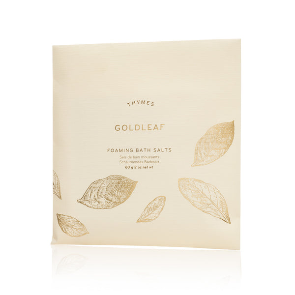 Thymes Goldleaf Foaming Bath Envelope-Personal Fragrance-TC-Thymes Collection-Putti Fine Furnishings