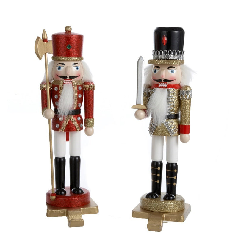 Traditional Gold Nutcracker Soldier Holder