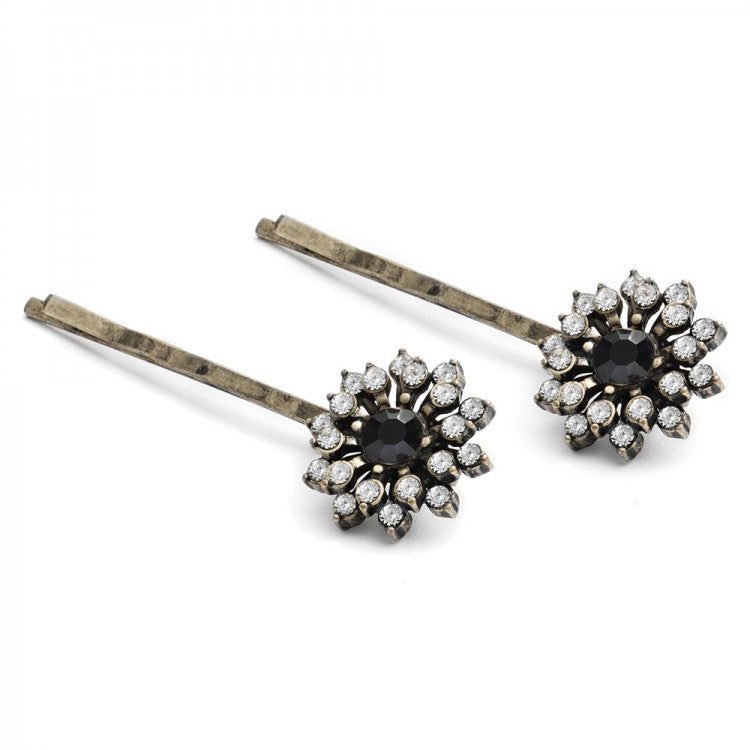 Lovett & Co Baroque Starburst Hairclips - Black, L&C-Lovett & Co., Putti Fine Furnishings