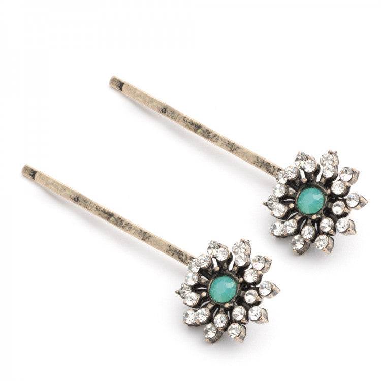 Lovett & Co Baroque Starburst Hairclips - Pacific Opal -  Jewelry - Lovett & Co. - Putti Fine Furnishings Toronto Canada - 1