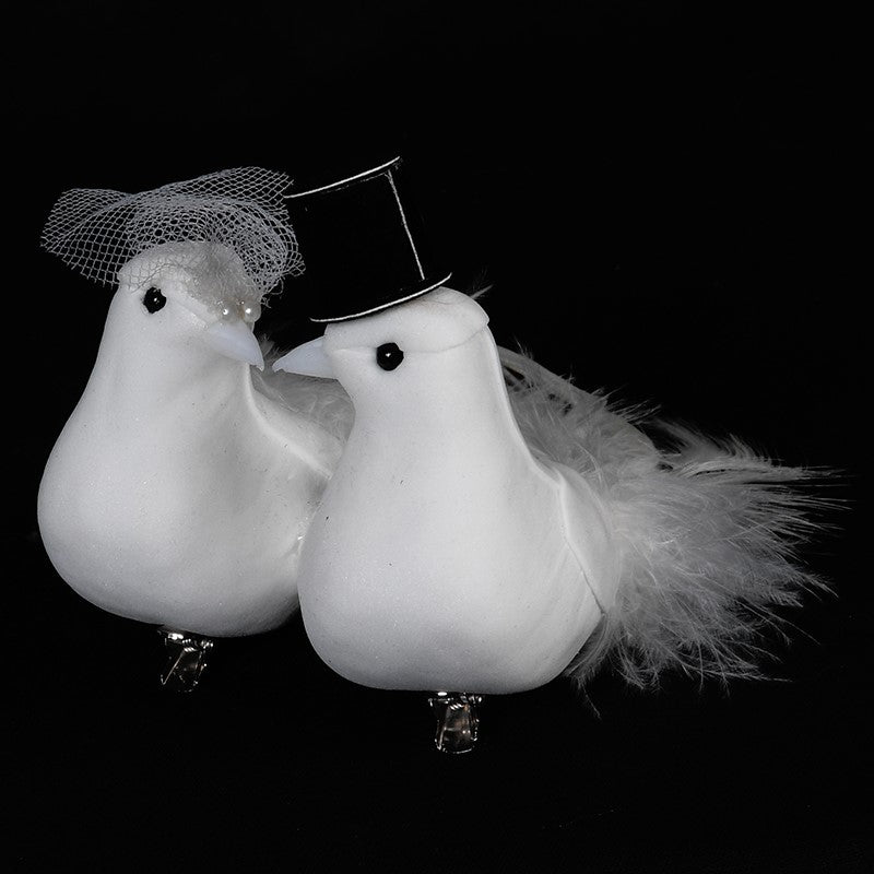 Mr & Mrs Feather Bird Couple