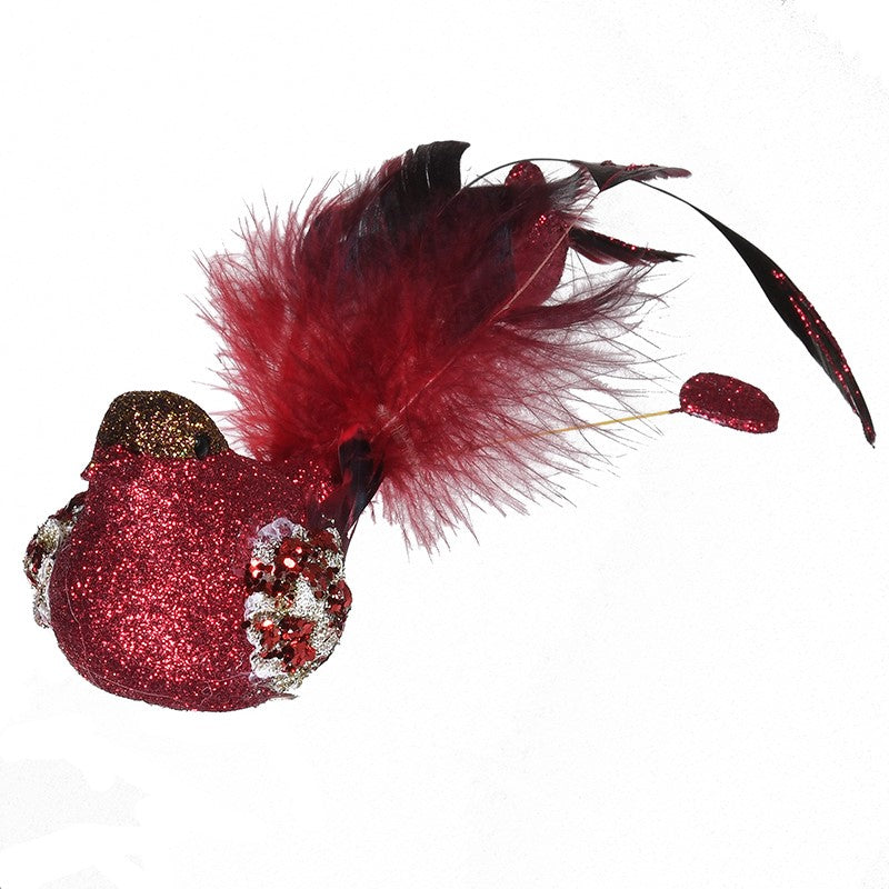 Red Feather Clip on Bird