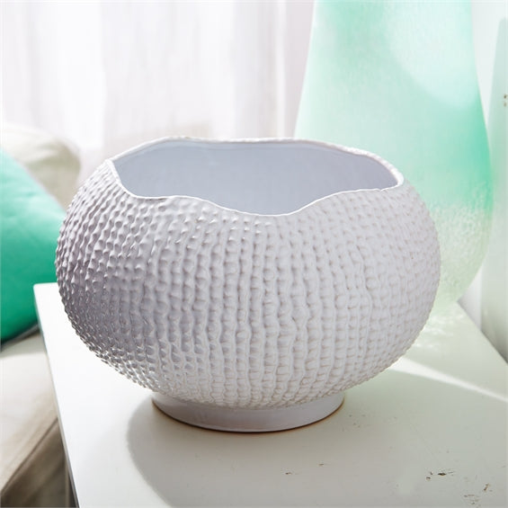 Tozai White Ceramic Sea Urchin Bowl