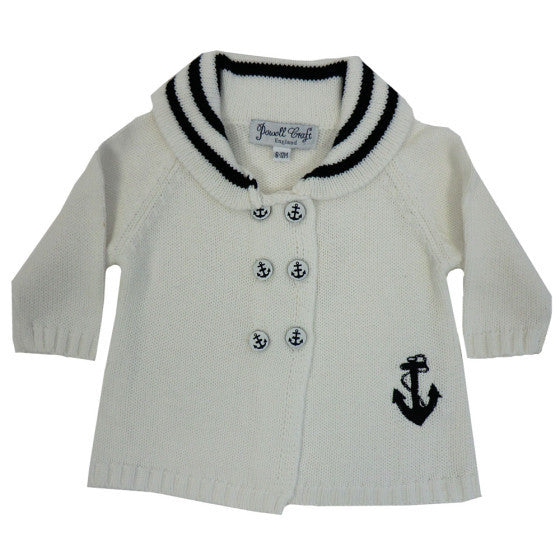 Anchor Pram Coat - 0-6 Months (special order 2 weeks) Children's Clothing - Powell Craft Uk - Putti Fine Furnishings Toronto Canada - 1