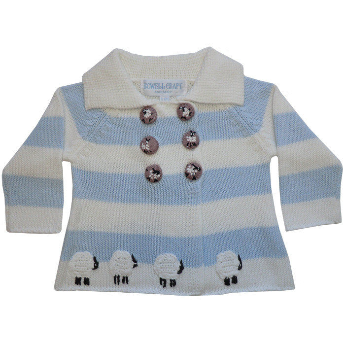 Farmyard Pram Coat - 0 to 6 months Children's Clothing - Powell Craft Uk - Putti Fine Furnishings Toronto Canada - 1