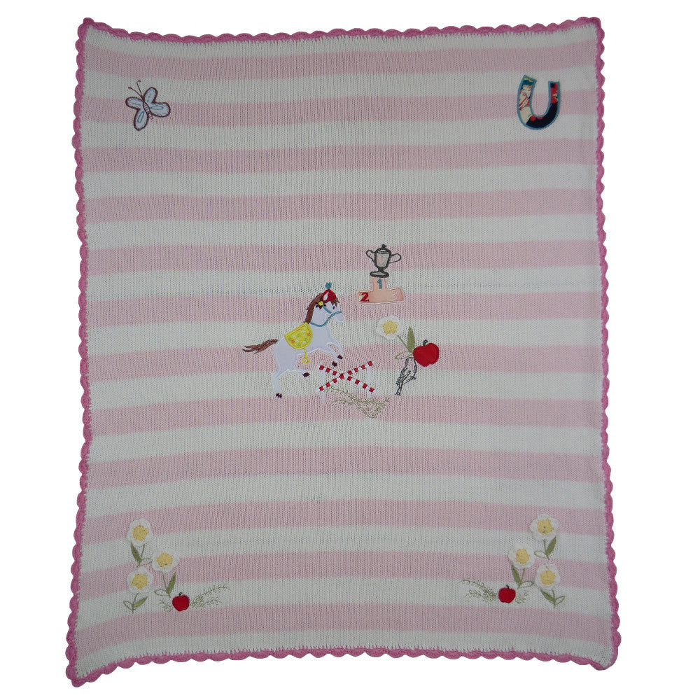 Pony Pram Blanket, PC-Powell Craft Uk, Putti Fine Furnishings