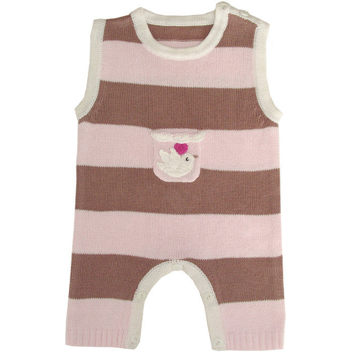 Love Bird Knitted Jumpsuit, PC-Powell Craft Uk, Putti Fine Furnishings
