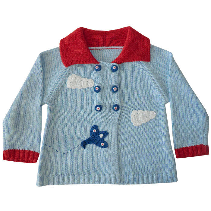 Vintage Aeroplane Pram Coat-Children's Clothing-PC-Powell Craft Uk-0 to 6 months (Sold Out)-Putti Fine Furnishings