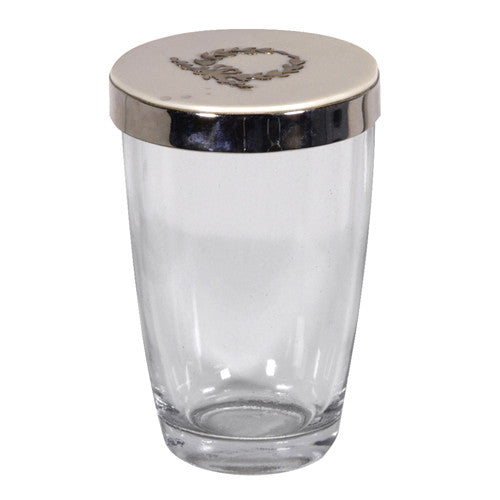Glass Beaker with Lid -  Bedside Carafe - Coach House - Putti Fine Furnishings Toronto Canada
