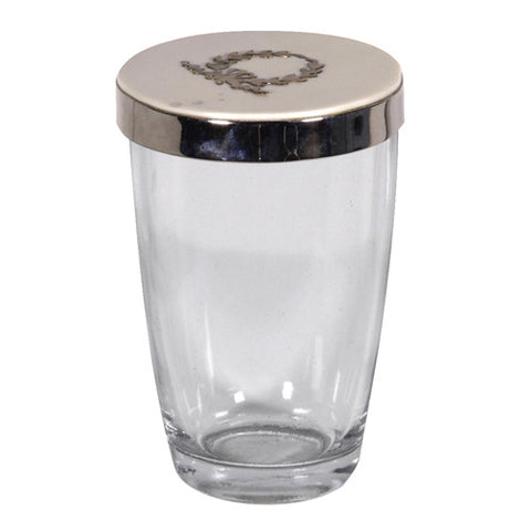 Glass Beaker with Lid-Bedside Carafe-Coach House-Putti Fine Furnishings