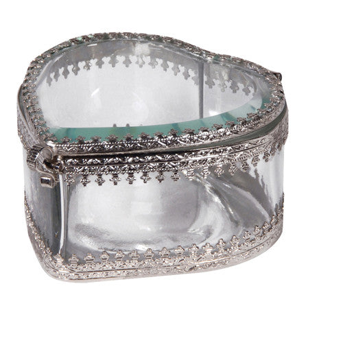 Glass Heart Shaped Box, CH-Coach House, Putti Fine Furnishings