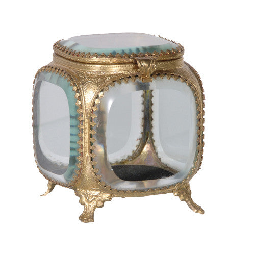 Square Trinket Box -  Vanity Accessories - Coach House - Putti Fine Furnishings Toronto Canada