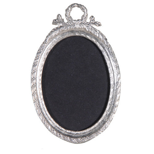 Small Silver Oval Picture Frame