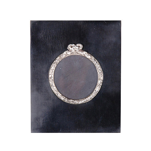 Black Bone Round Picture Frame