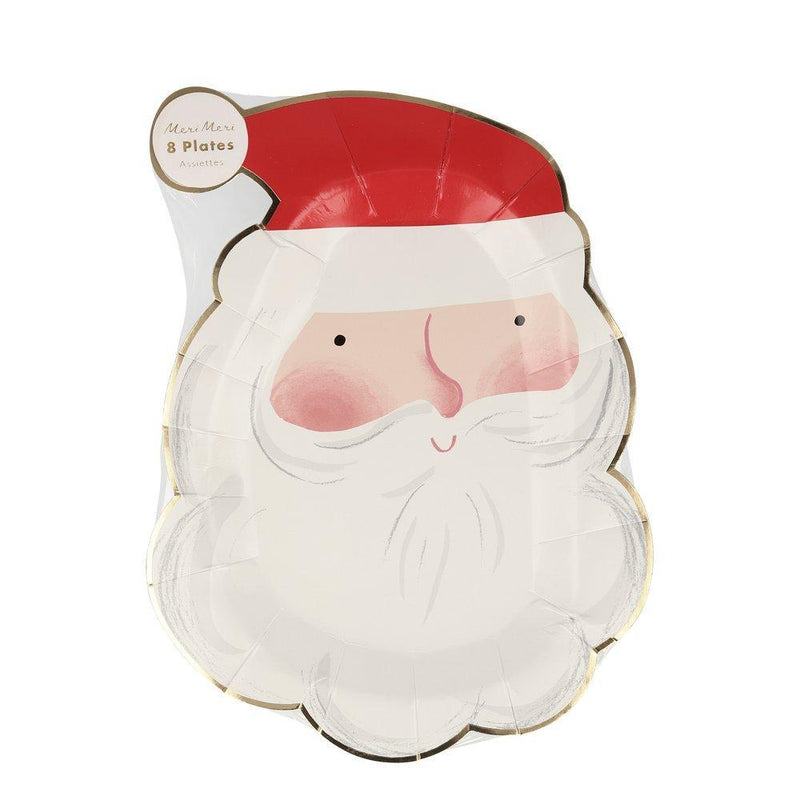 Meri Meri Jolly Santa Paper Plate | Putti Christmas Celebrations Canada