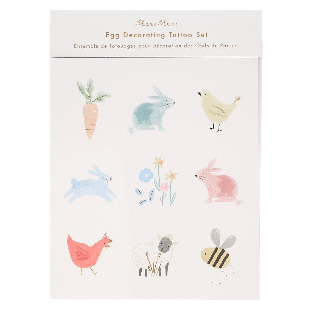 Meri Meri Spring Bunny Egg Decorating Tattoo Kit | Putti Party Supplies