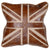 Leather Union Jack Pillow