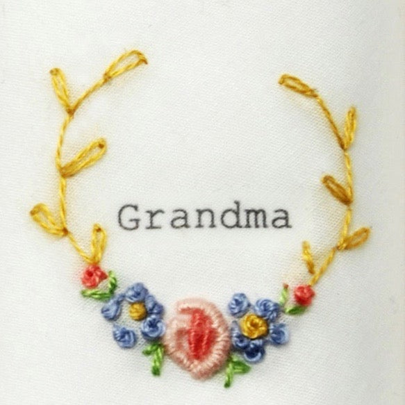 "Tamielle ""Grandma"" Embroidered Hanki 