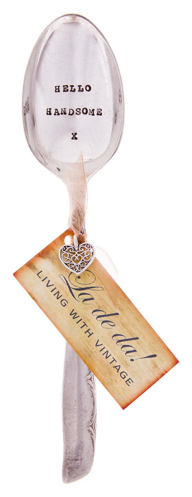 """Hello Handsome"" Vintage Desert/Cereal Spoon -  Flatware - La De Da Living - Putti Fine Furnishings Toronto Canada - 2"