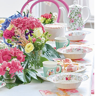 Truly Scrumptious Floral Paper Bowls -  Party Supplies - Talking Tables - Putti Fine Furnishings Toronto Canada - 5