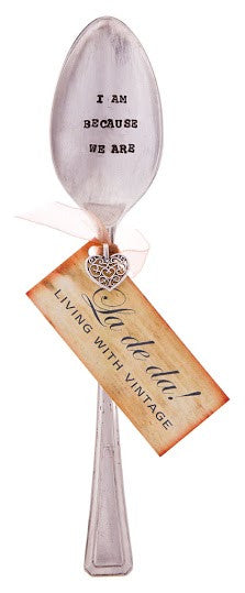"""I am because we are"" Vintage Desert/Cereal Spoon -  Flatware - La De Da Living - Putti Fine Furnishings Toronto Canada - 2"