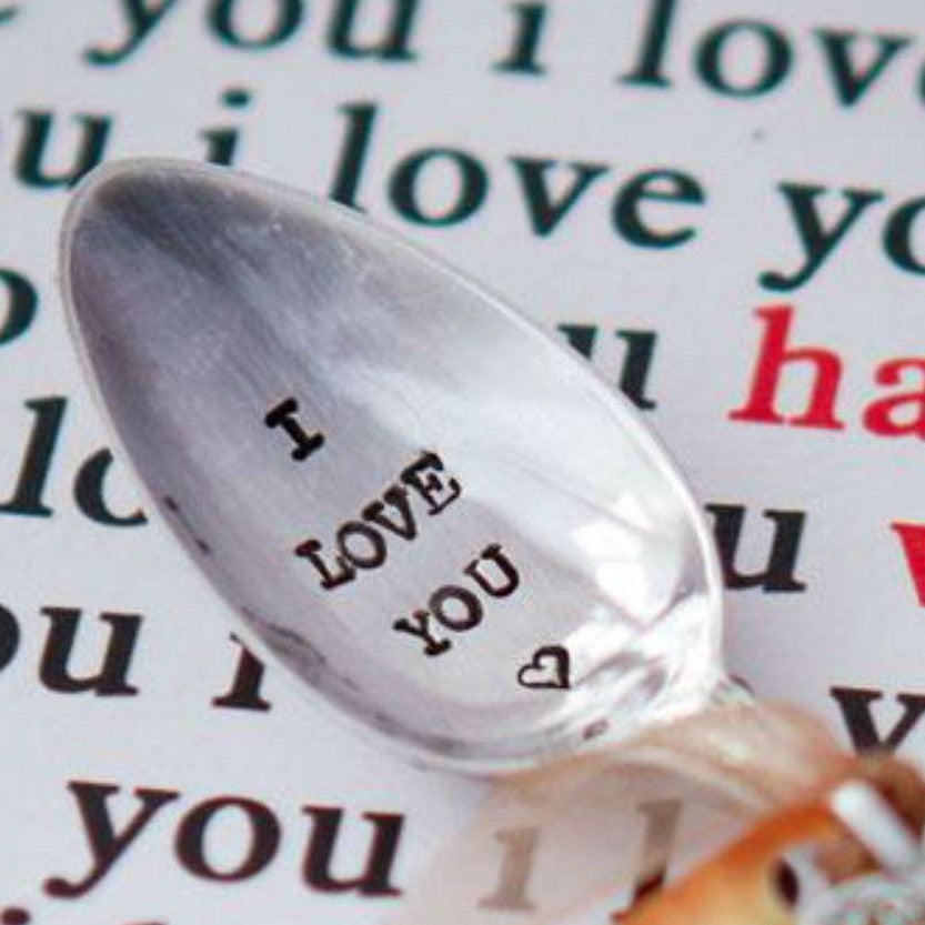 """I love you"" Vintage Tea Spoon -  Flatware - La De Da Living - Putti Fine Furnishings Toronto Canada - 1"