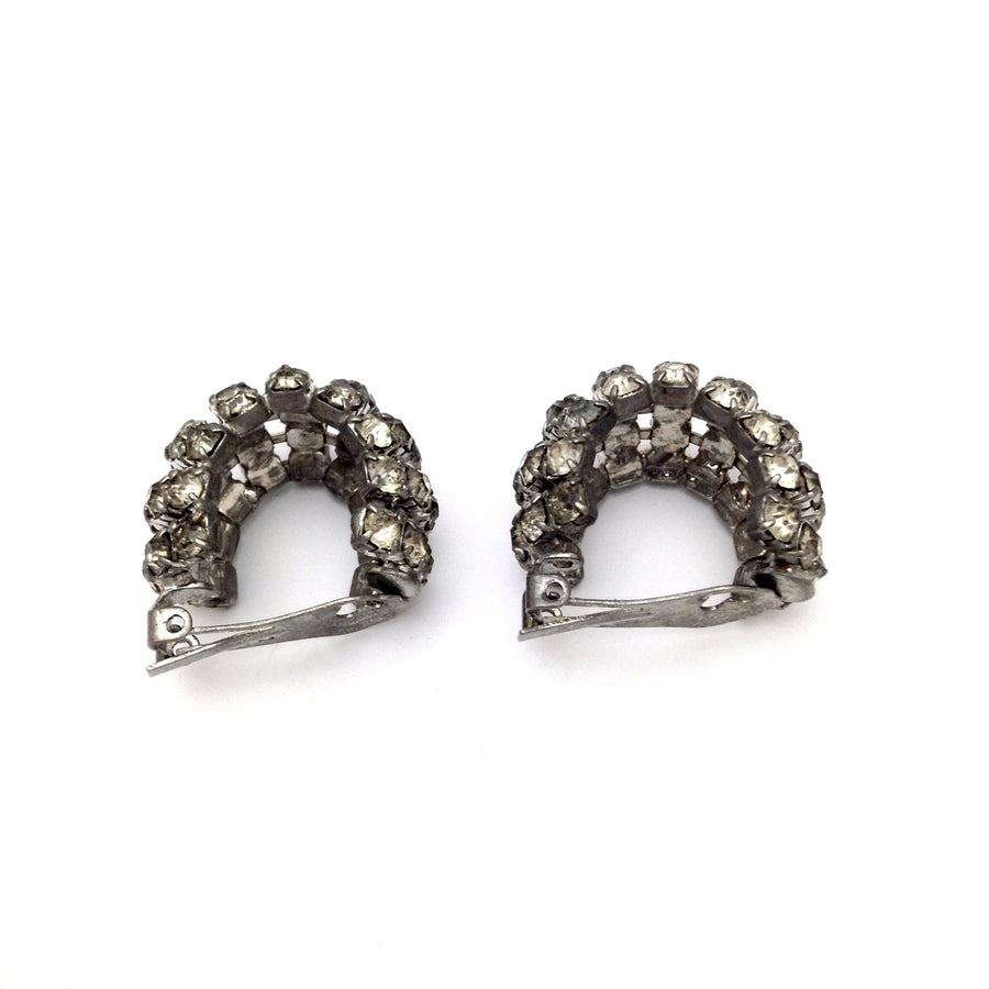 Vintage Crystal Hoop Earrings, Vintage, Putti Fine Furnishings